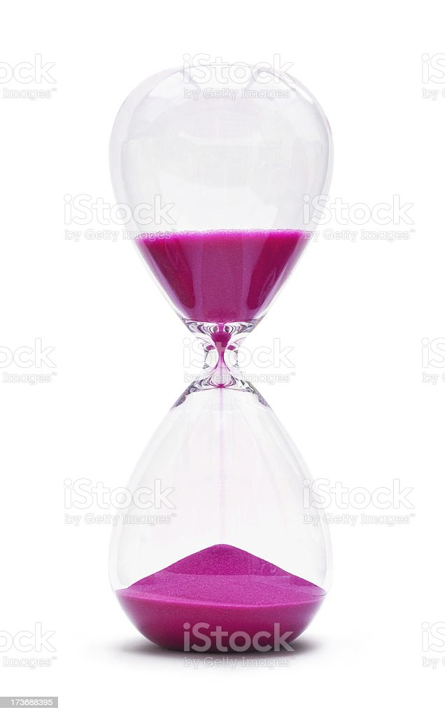 Hour Glass isolated on white background stock photo