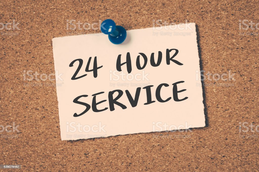 24 hour service stock photo