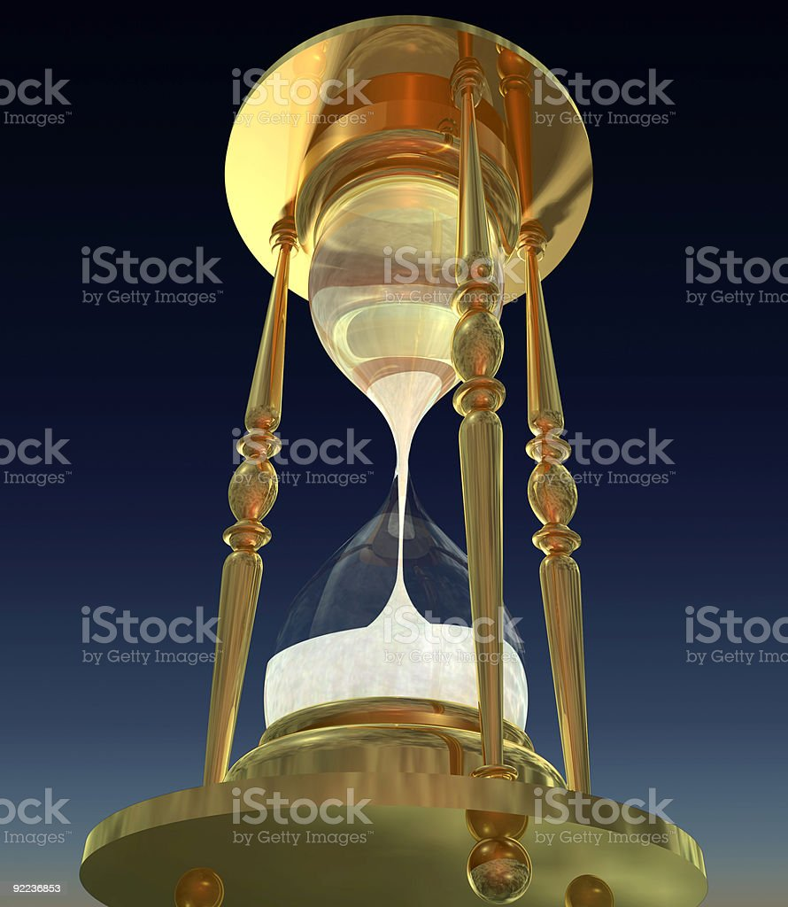 Hourglass 3D Rendering royalty-free stock photo