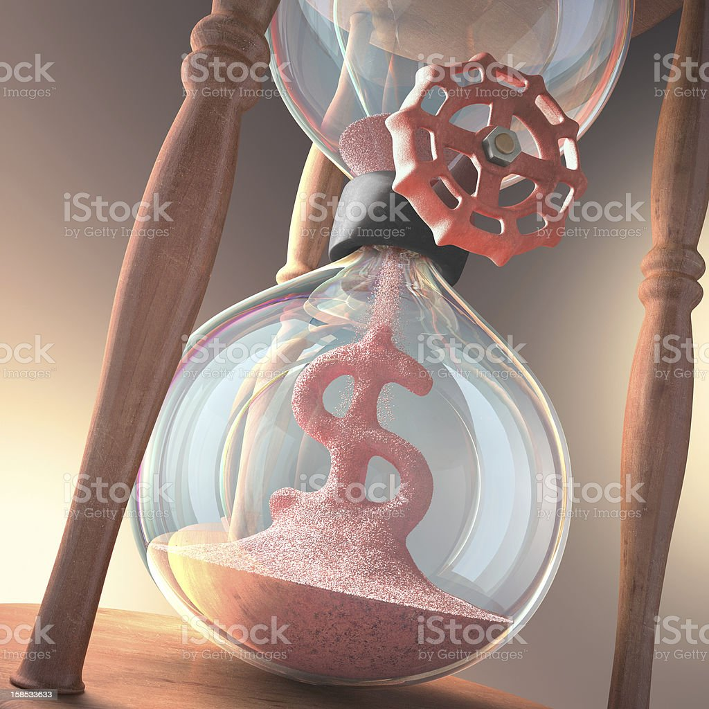 Hourglass Business royalty-free stock photo