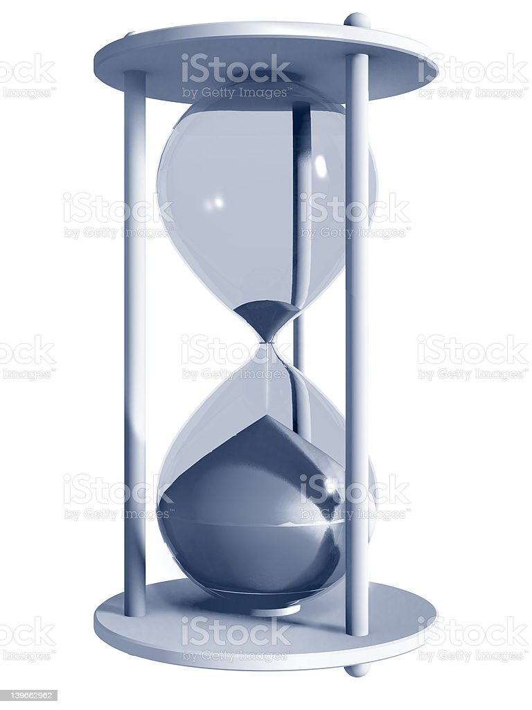 Hourglass bv stock photo