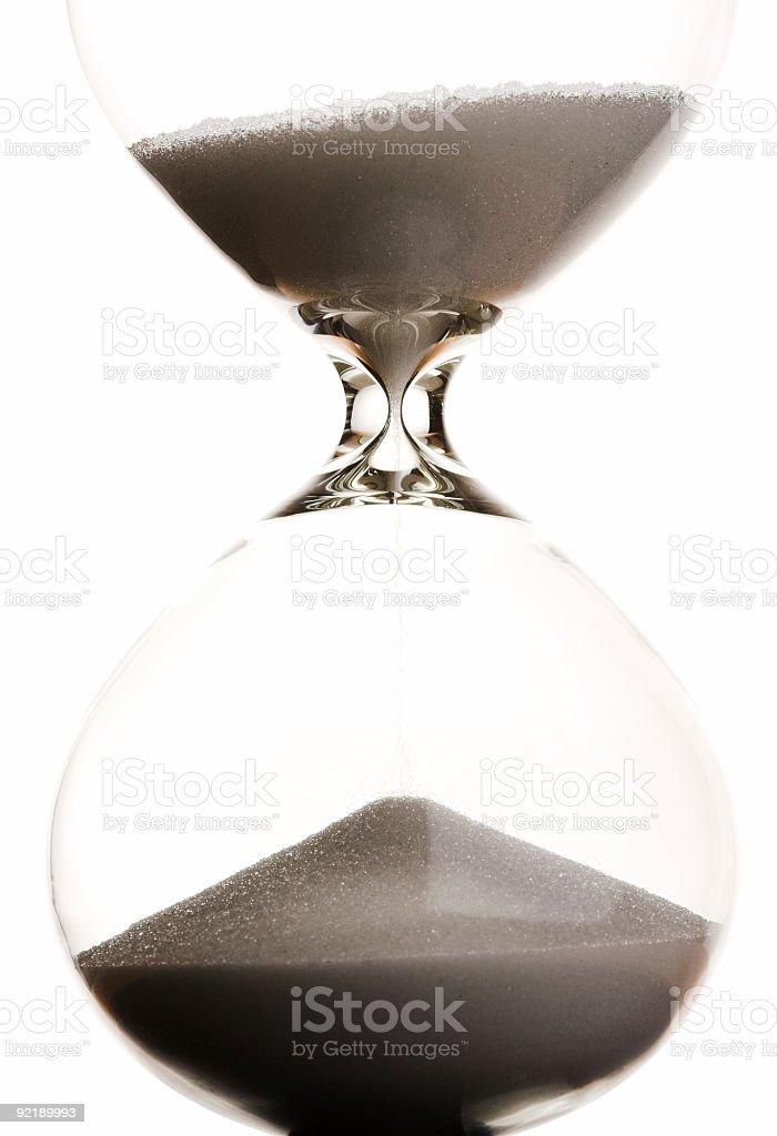Hourglass - Halfway Through royalty-free stock photo