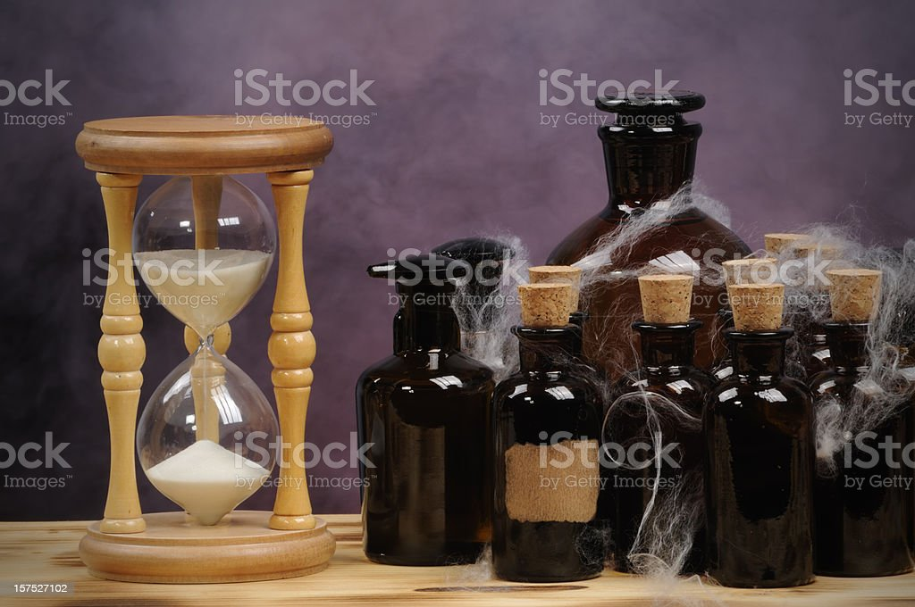 Hourglass in Lab royalty-free stock photo