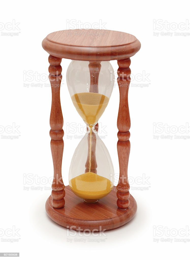 Hourglass isolated on the white background royalty-free stock photo