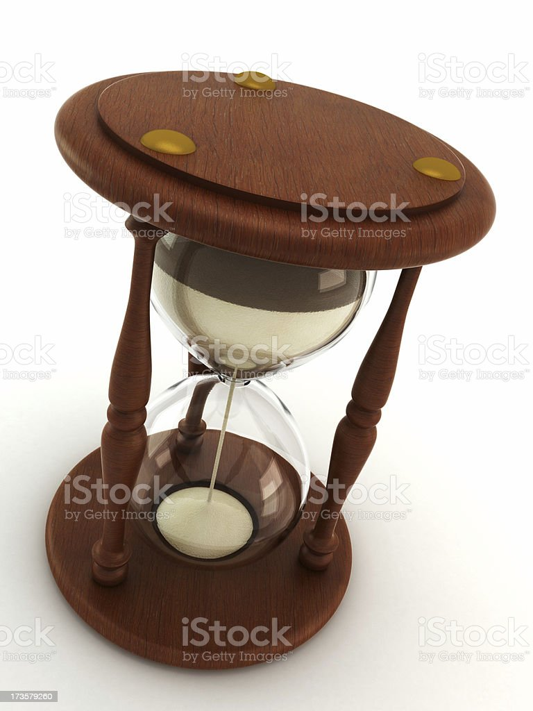 Hourglass isolated on white royalty-free stock photo
