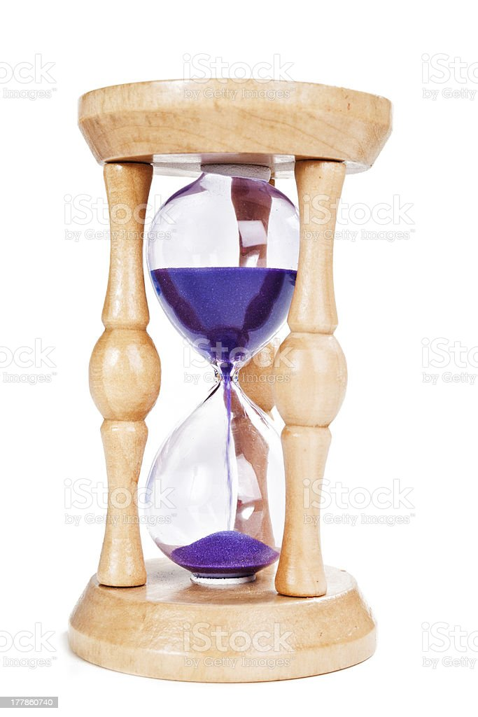Hourglass isolated royalty-free stock photo