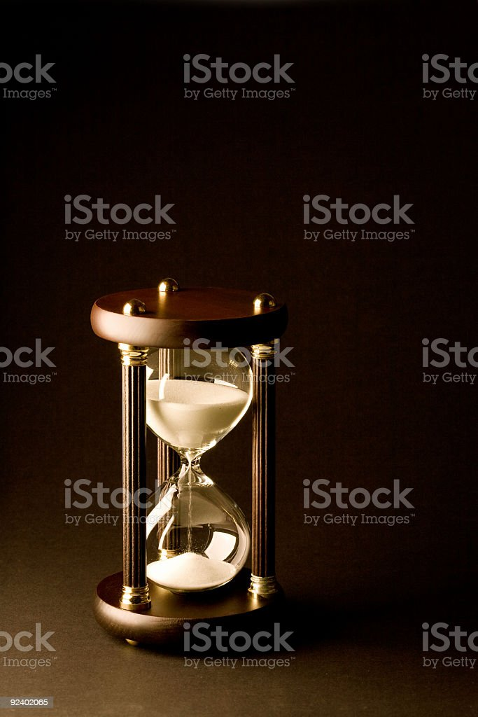 Hourglass on Black royalty-free stock photo