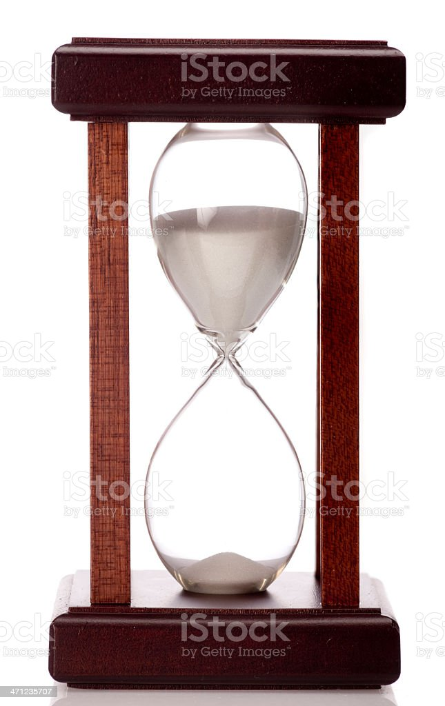 Hourglass on white background royalty-free stock photo