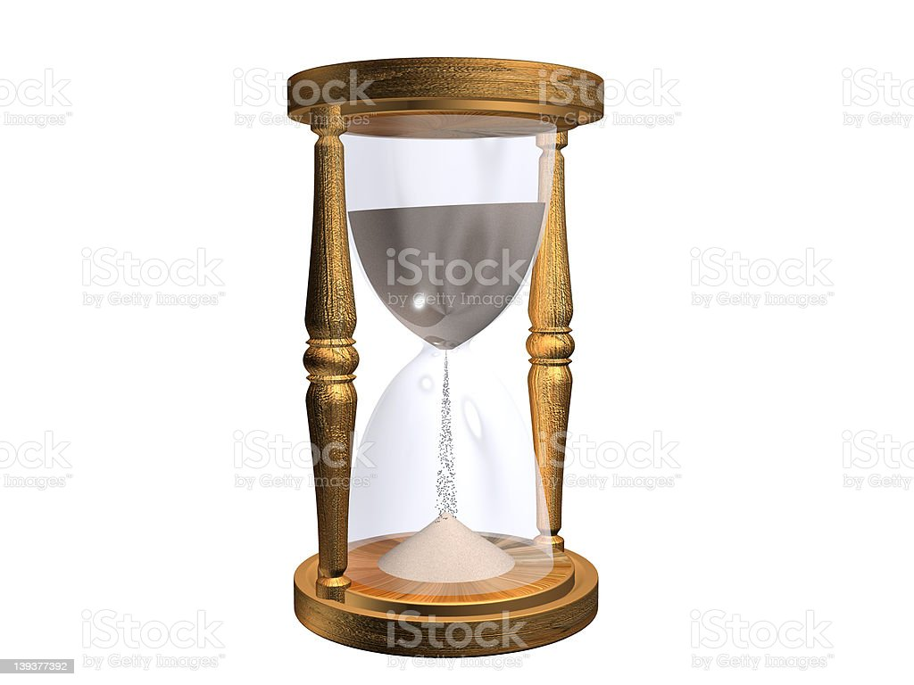 hourglass (path included) royalty-free stock photo