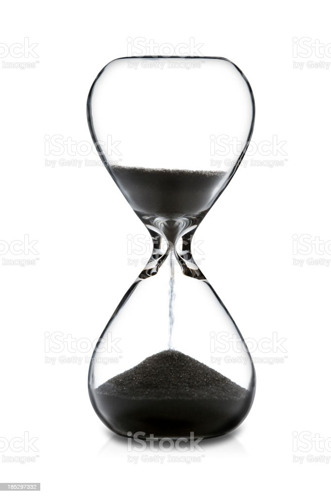 Hourglass stock photo