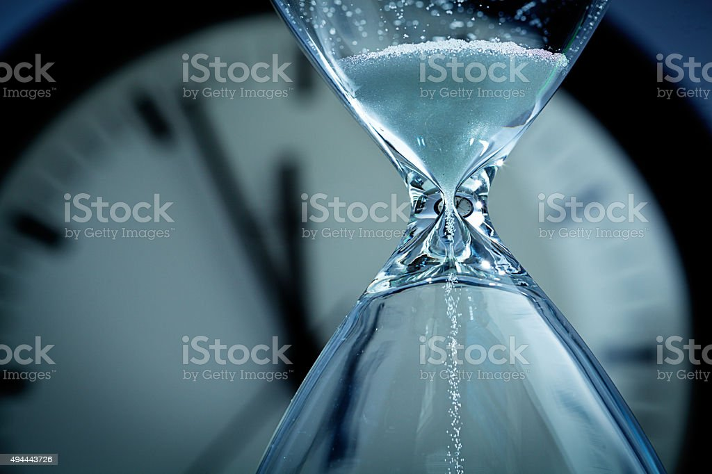 Hourglass Sands of Time Deadline stock photo