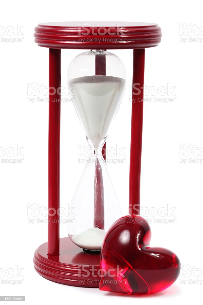 Hourglass with heart royalty-free stock photo