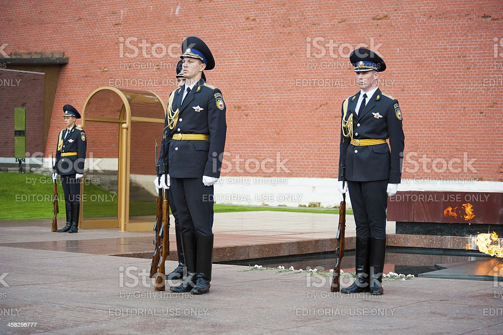 Hourly change of the Honour Guard stock photo