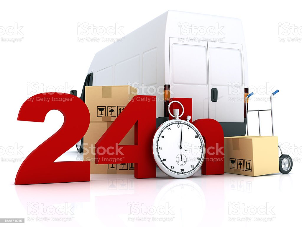 24 Hours Delivery royalty-free stock photo