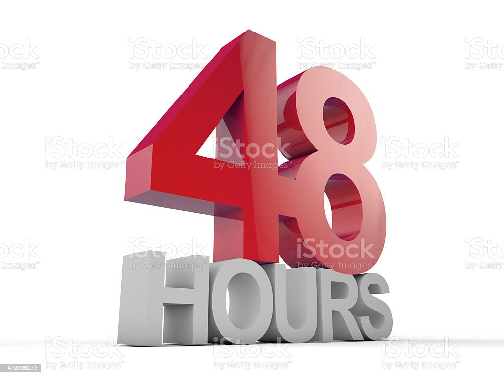 48 Hours stock photo