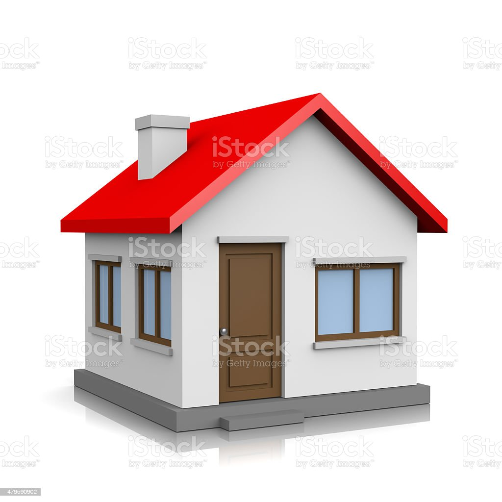House 3D Illustration stock photo