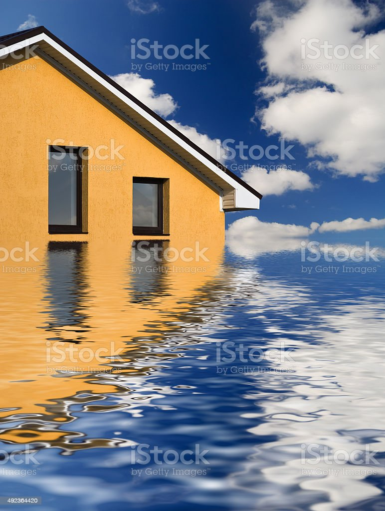 house above the ocean stock photo