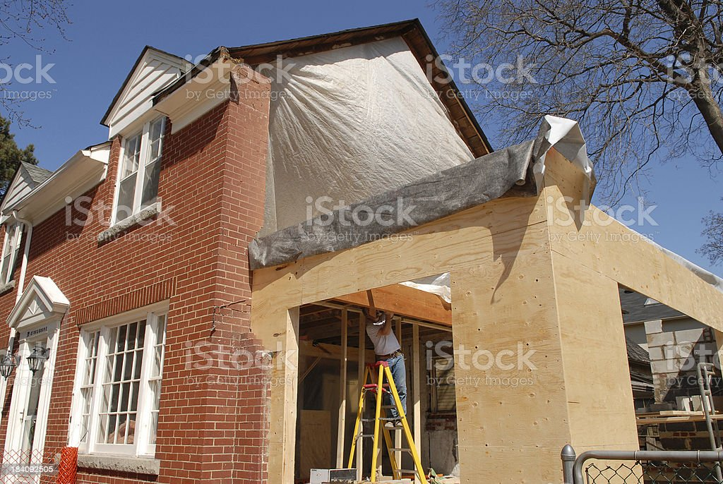 house additions 6 stock photo
