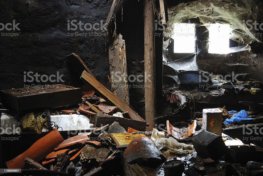 House After Cataclysm royalty-free stock photo