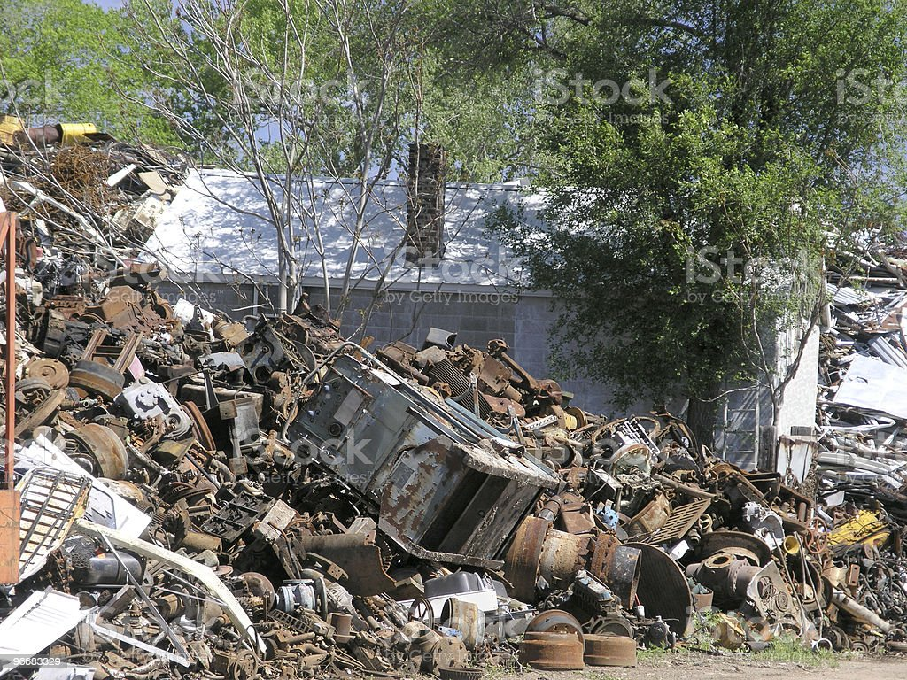 House Amid Junk stock photo