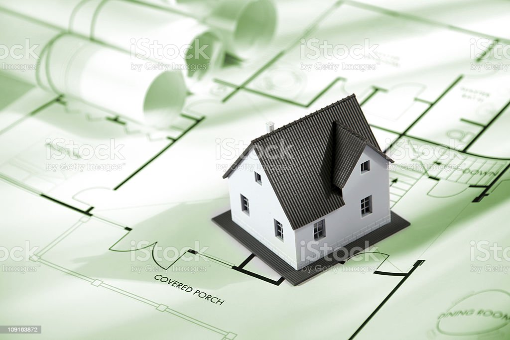 House and blueprints series XXL royalty-free stock photo