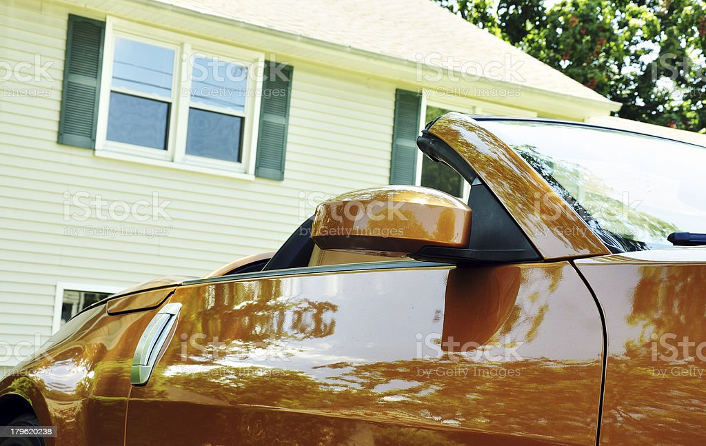 House and Car royalty-free stock photo