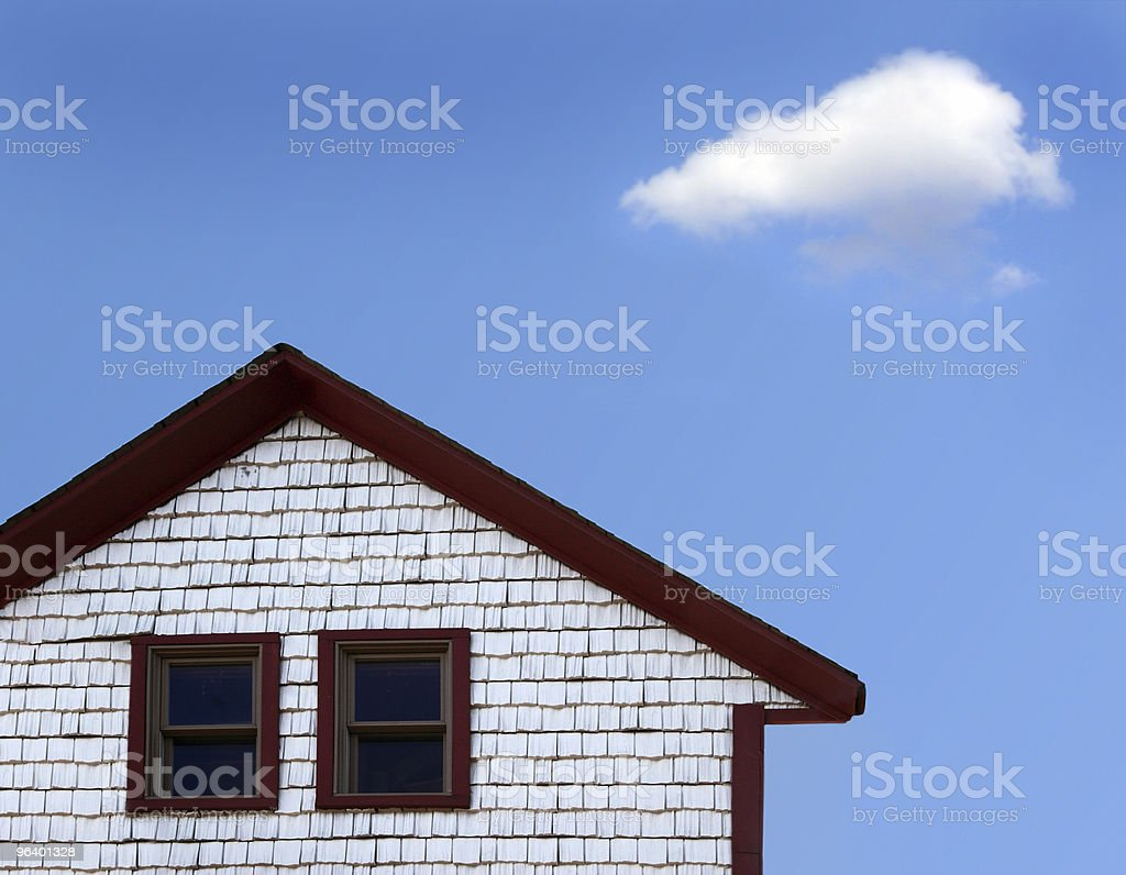 House and cloud royalty-free stock photo