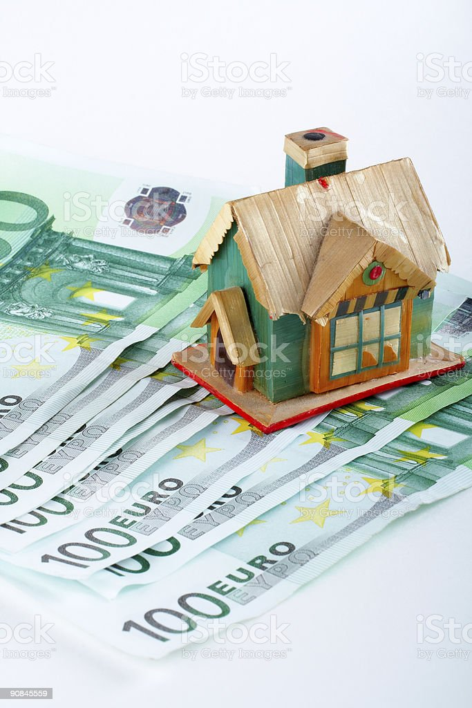 House and euro bills royalty-free stock photo