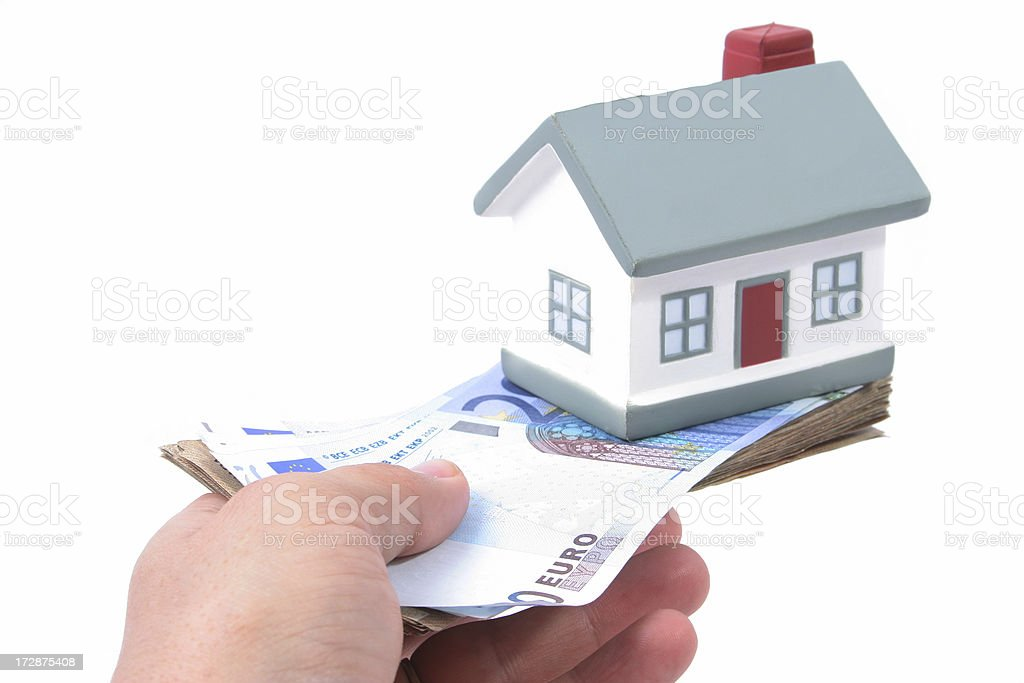 House and Euro Money royalty-free stock photo