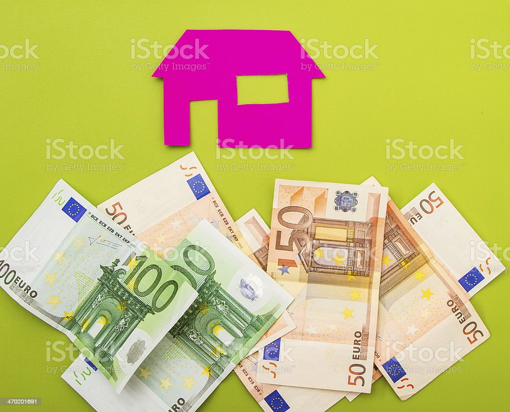 House and euros stock photo