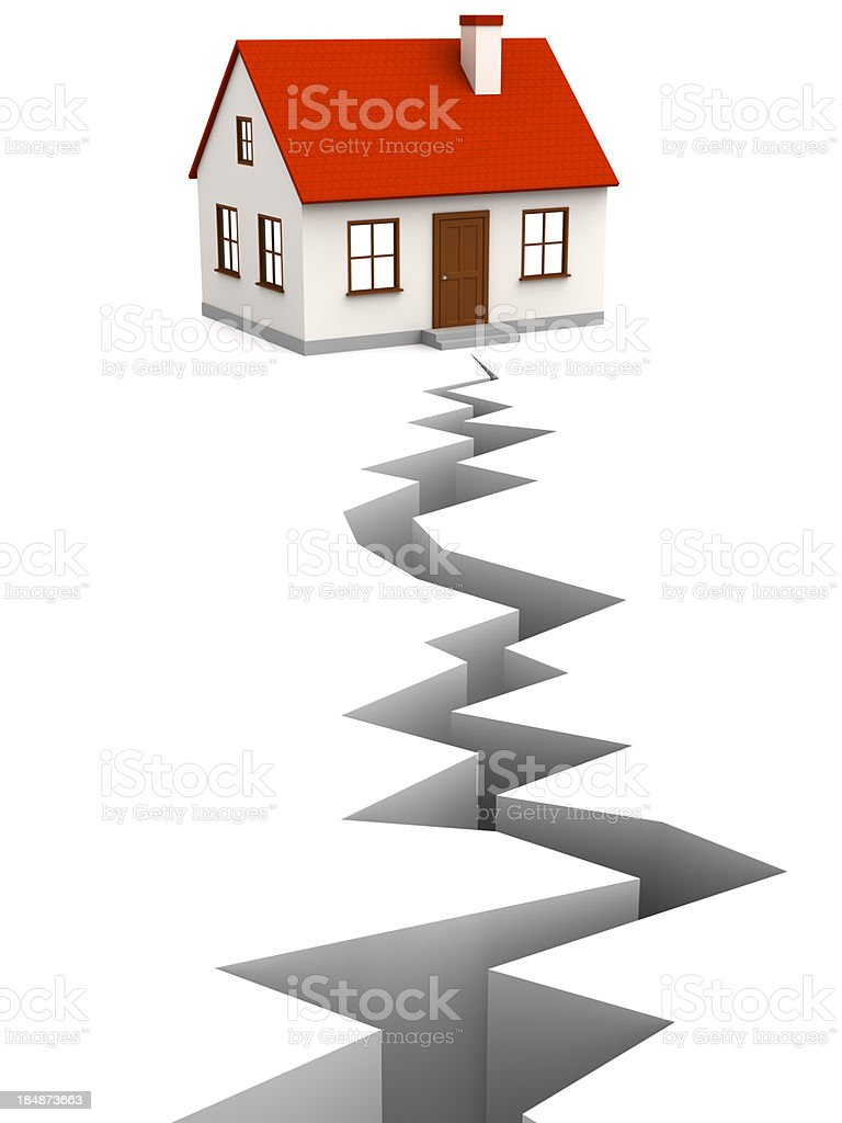 House and fault stock photo
