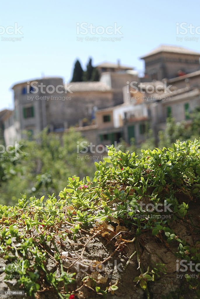 House and Garden Idyll In South Europe stock photo