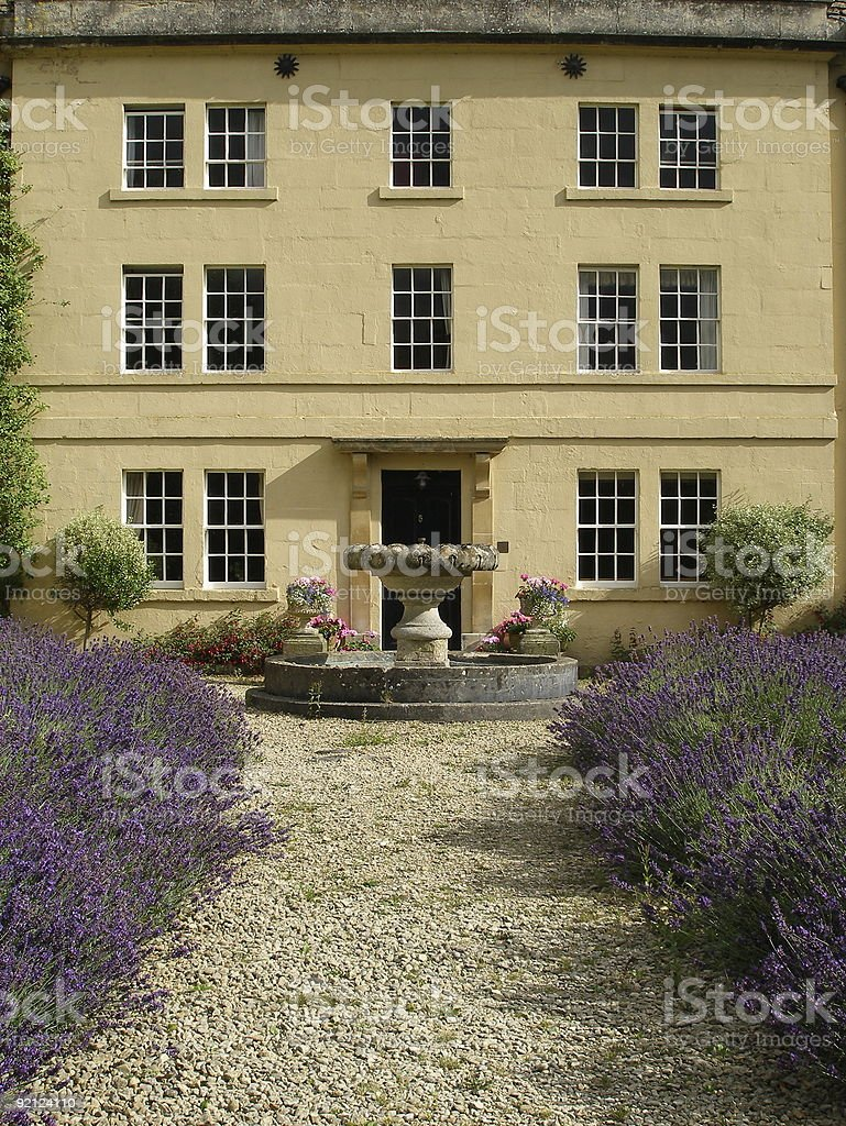 House and Garden Path stock photo