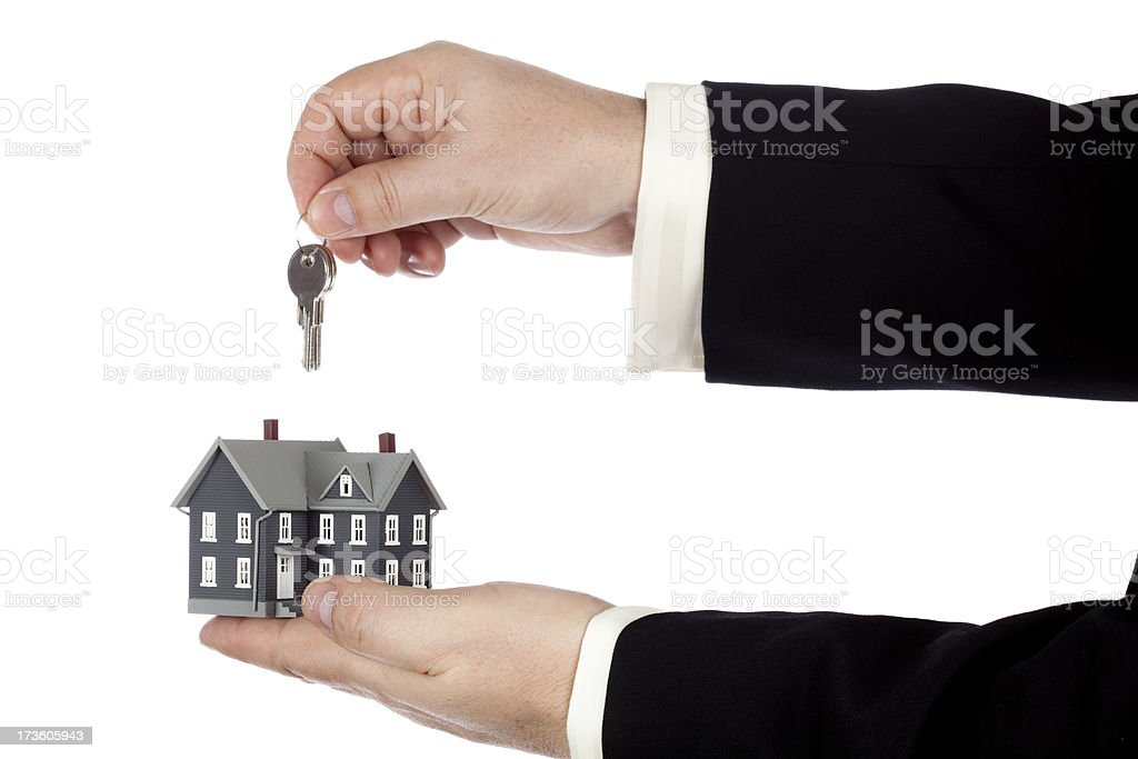 House and house keys royalty-free stock photo