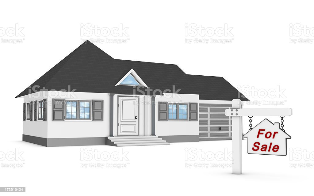 House and Information Sign royalty-free stock photo