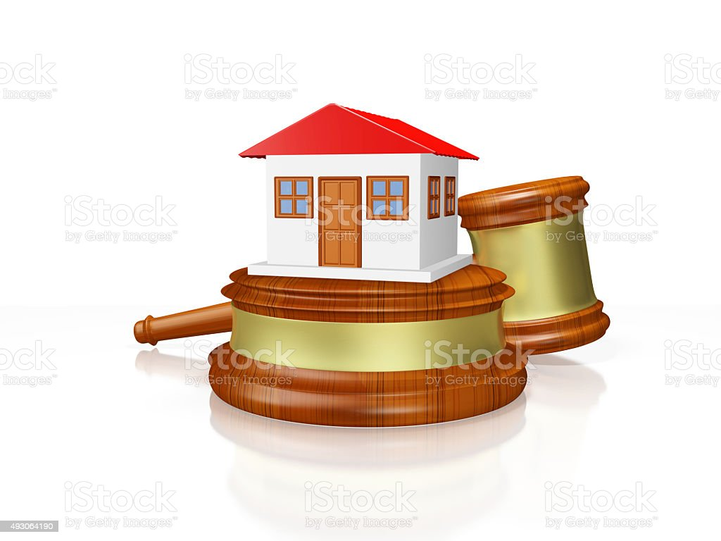 House and Judge Gavel Mallet stock photo