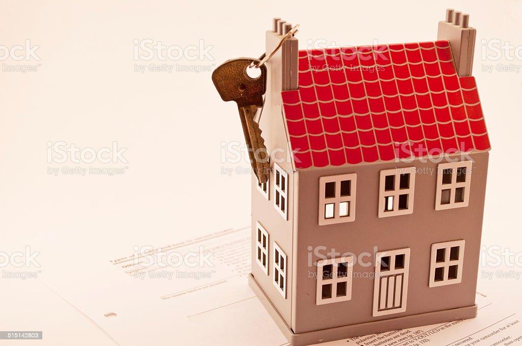 house and key stock photo