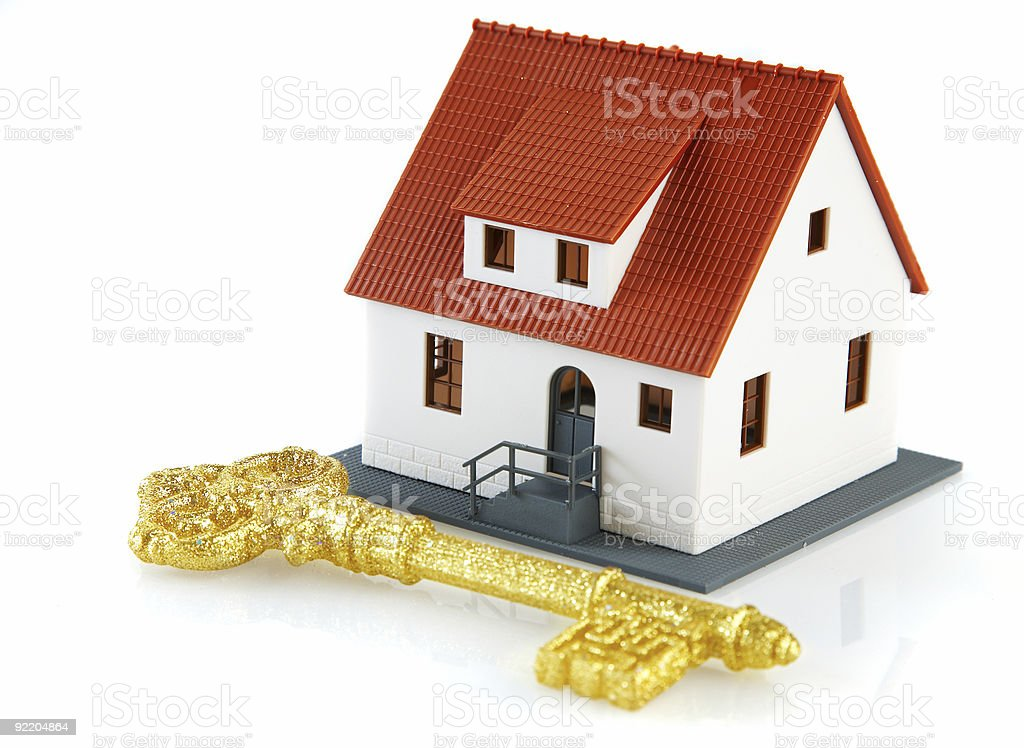 house and key royalty-free stock photo