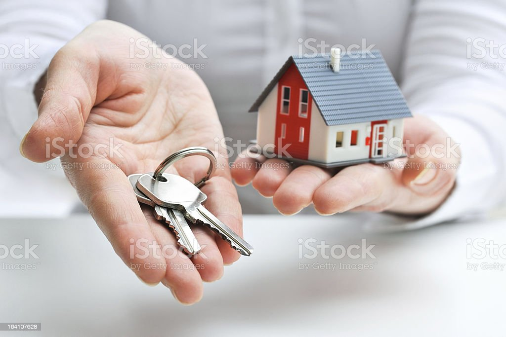House and keys stock photo