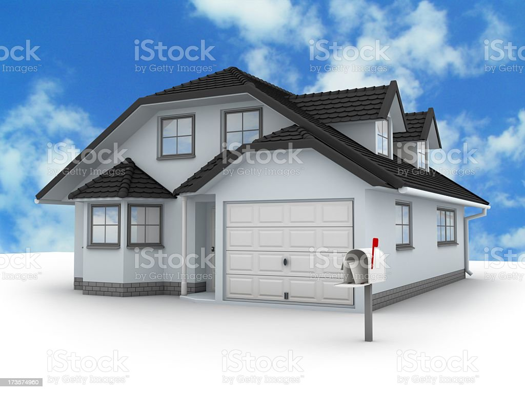 House and Mailbox royalty-free stock photo