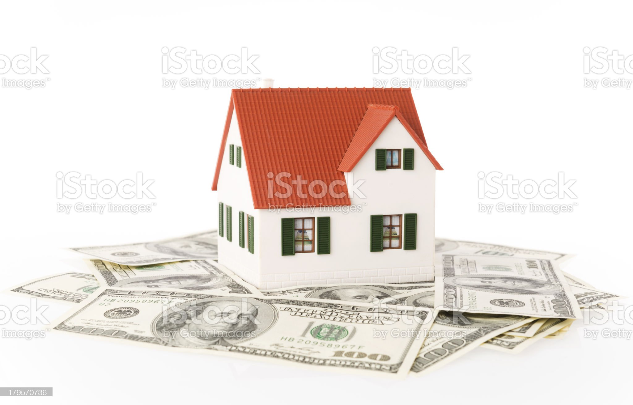 House and money royalty-free stock photo