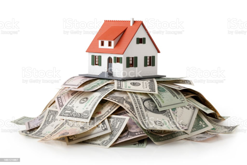 House and money. stock photo