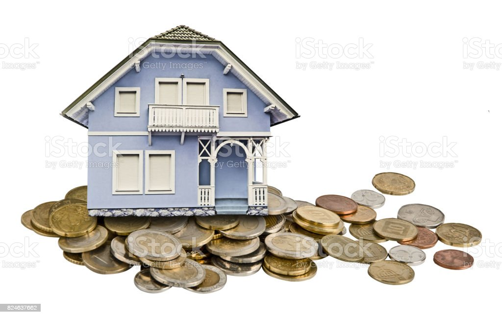 House and money stock photo