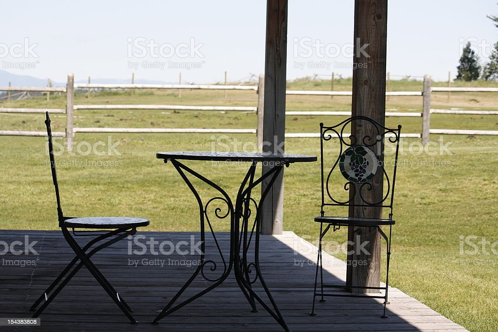 House and Mountains royalty-free stock photo