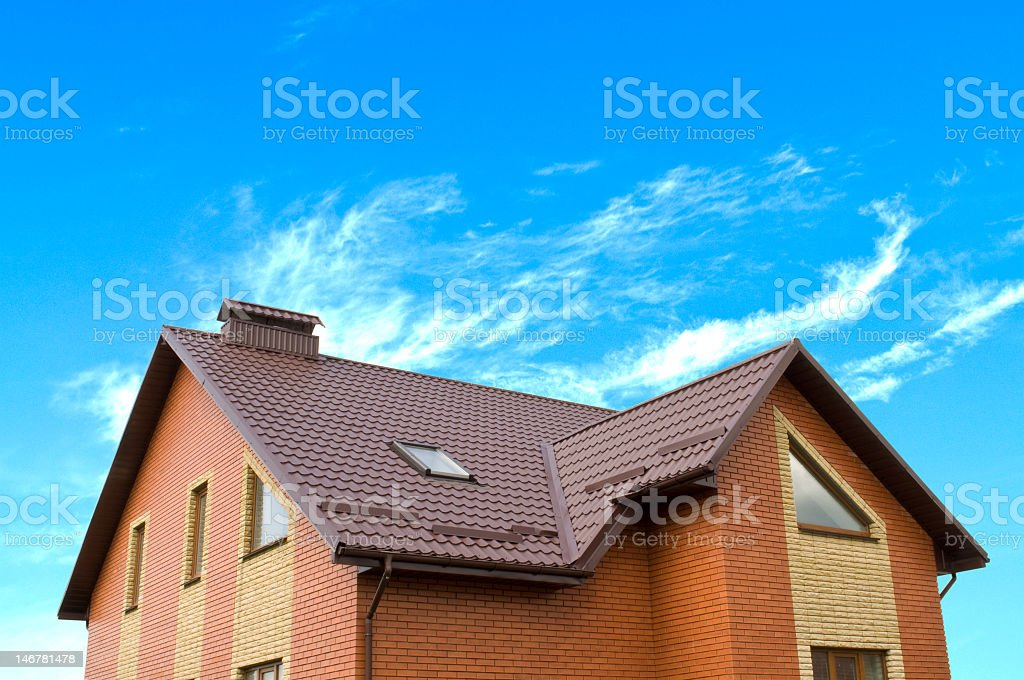 house and sky royalty-free stock photo