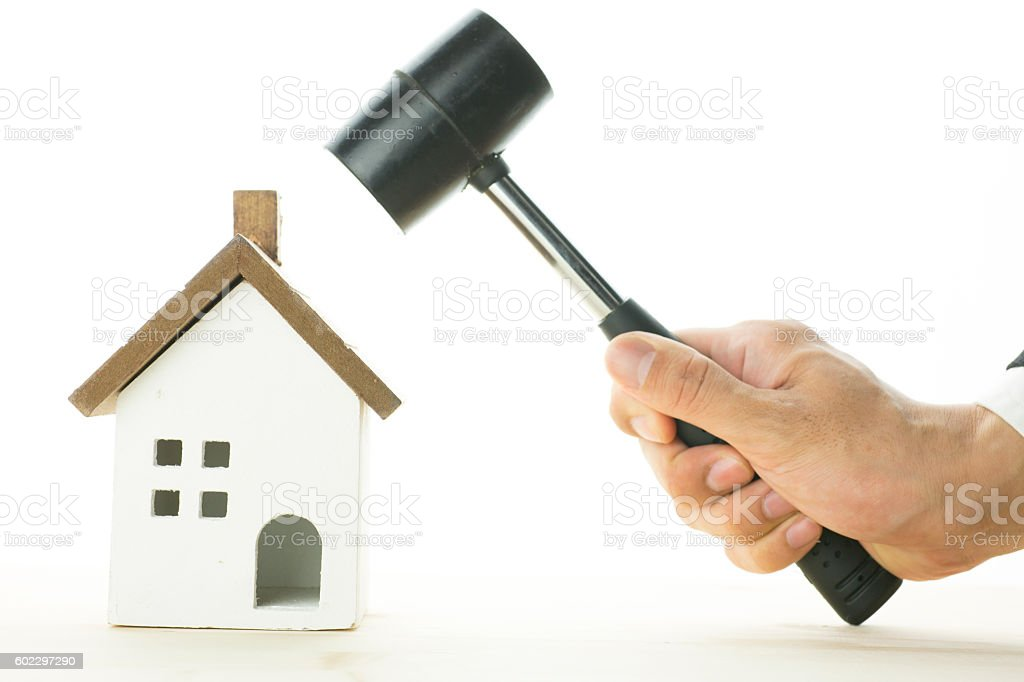 House and the hammer stock photo
