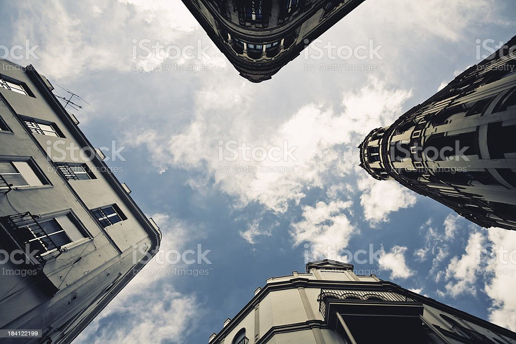 House Architecture Fisheye Lens royalty-free stock photo