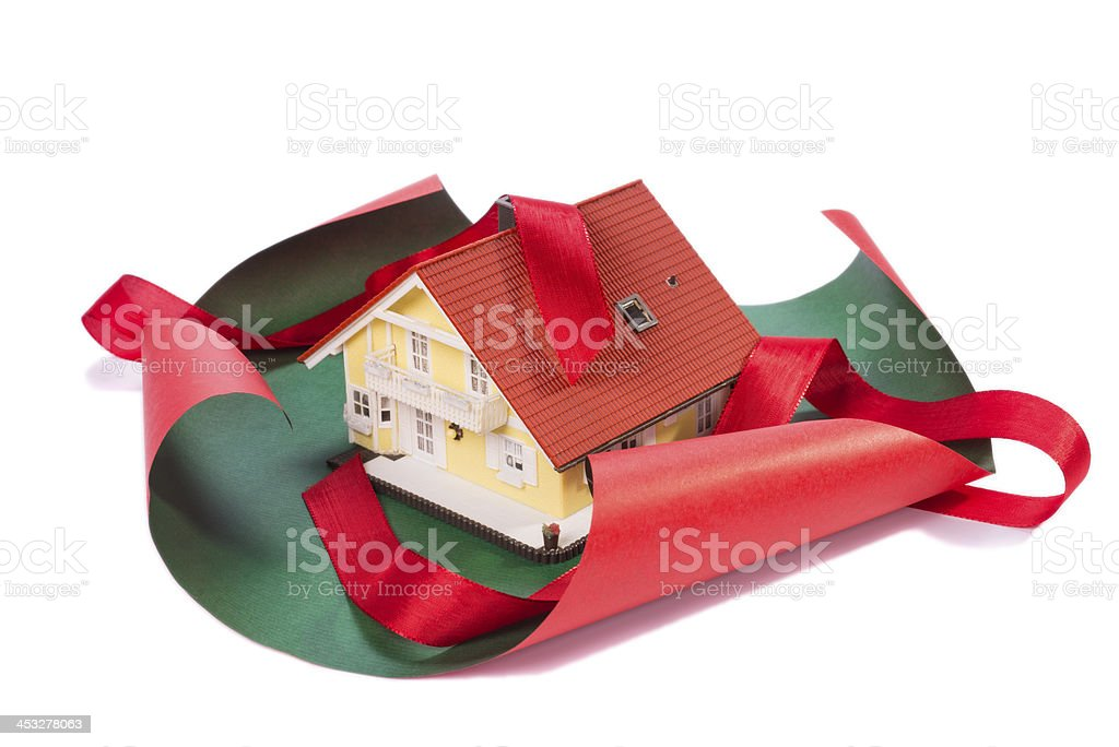 House as a gift stock photo
