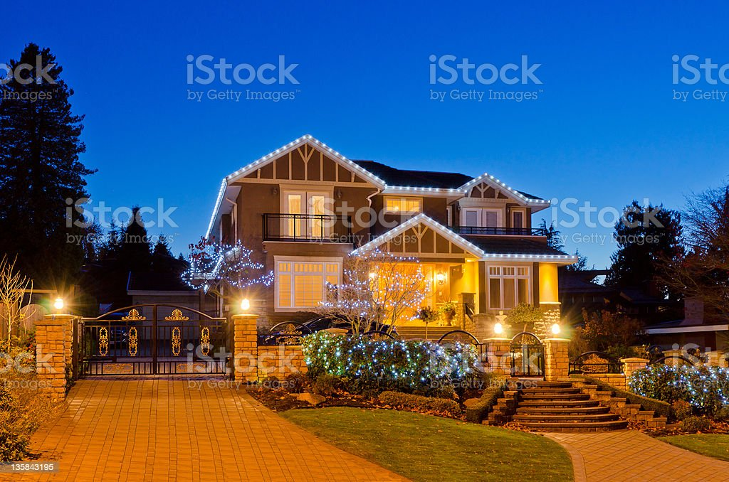 House at dusk. royalty-free stock photo