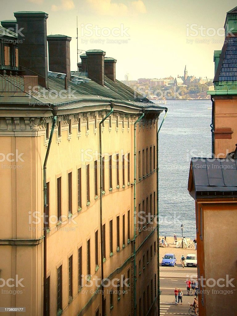 House at Järntorget, Stockholm royalty-free stock photo
